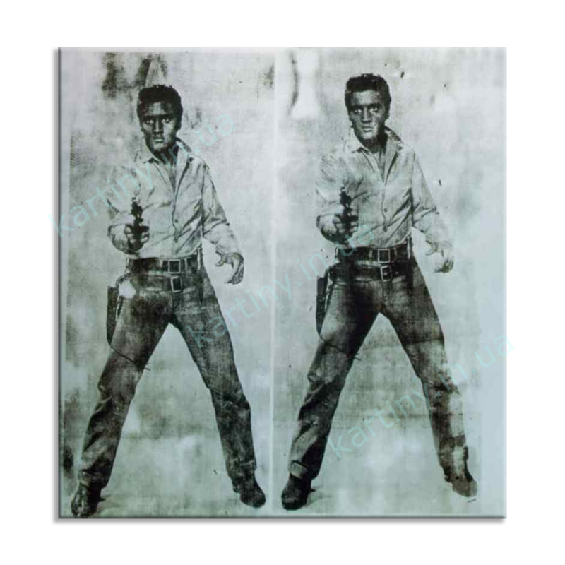 Картина Double Elvis, 1963, Private, Энди Уорхол